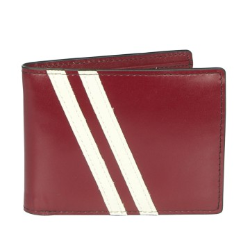 Leather Wallet with Coin Pouch Roadster - Dark Red