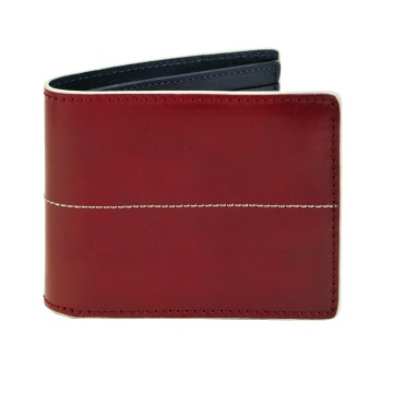 Thunderbird Leather Wallet - Red/Blue