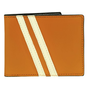 Leather Wallet with Coin Pouch Roadster - Orange