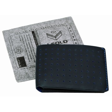 Leather Wallet Overstone - Navy/Blue