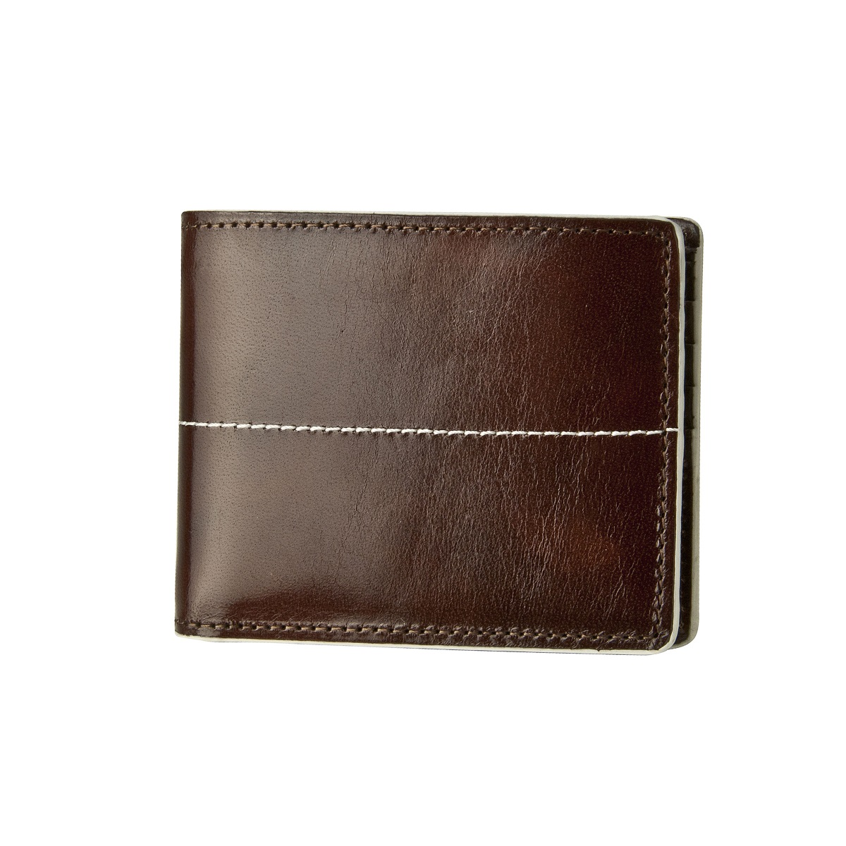 Thunderbird Leather Wallet - Brown/Ivory
