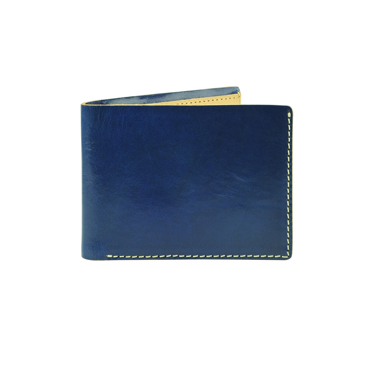 Superglaze Leather Wallet - Cobalt