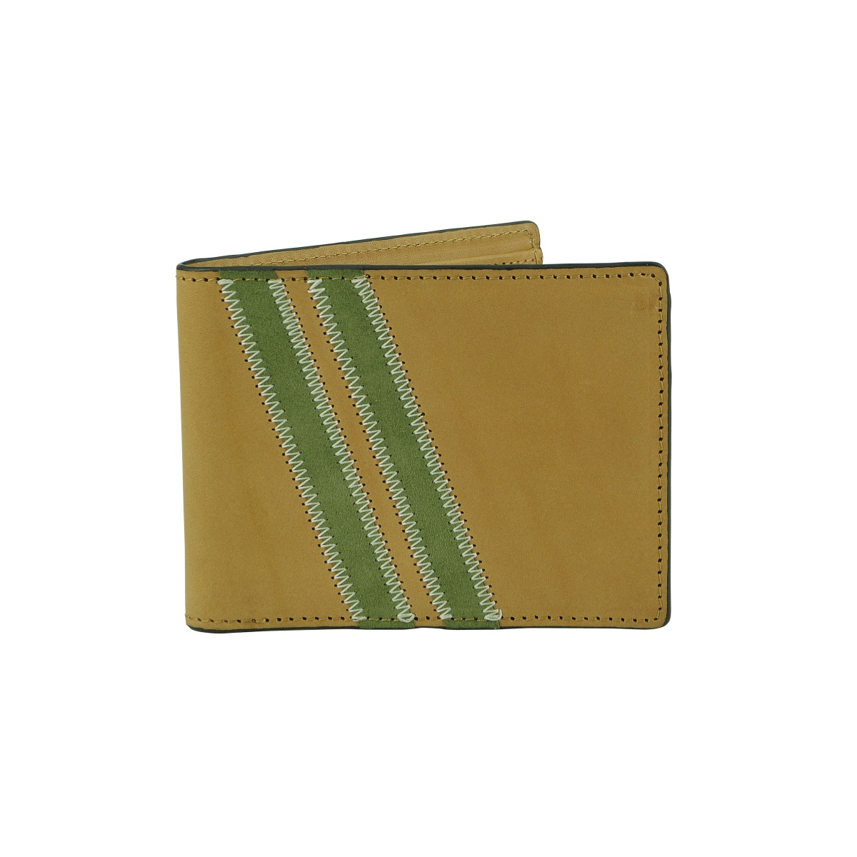Zig Zag Roadster Leather Wallet - Tan
