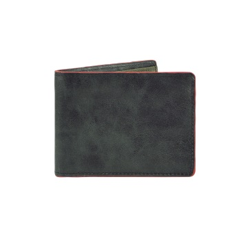 Smokestack Leather Wallet - Black