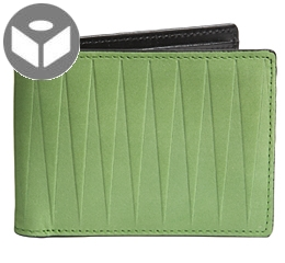 Leather Wallet with Coin Pouch Isosceles - Green