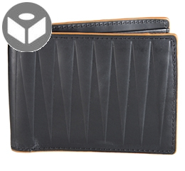 IsoscelesLeather Wallet with Coin Pouch - Black